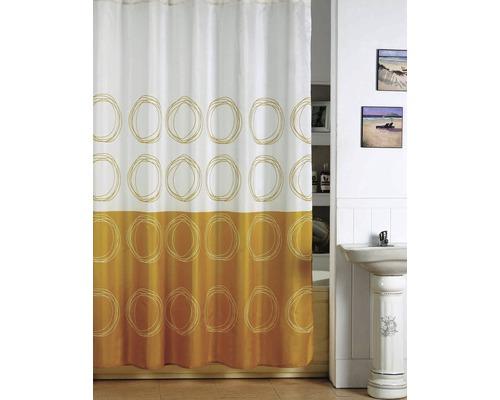 Duschvorhang Kreise gelb-weiß 180x200 cm