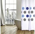 Duschvorhang große Kreise blau 180x200 cm