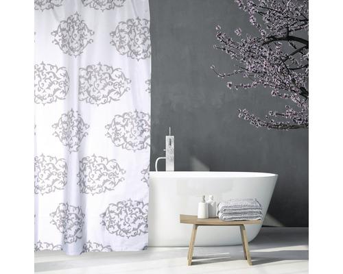 Duschvorhang Barok grau 180x200 cm