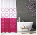 Duschvorhang Kriese weiß-pink 180x200 cm
