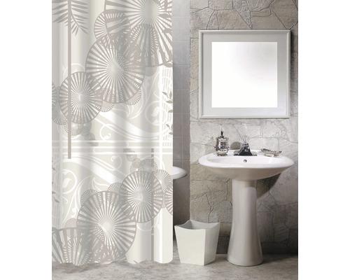 Duschvorhang Sonnenschirme beige-weiß 180x200 cm