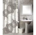 Duschvorhang Sonnenschirme braun-weiß 180x200 cm