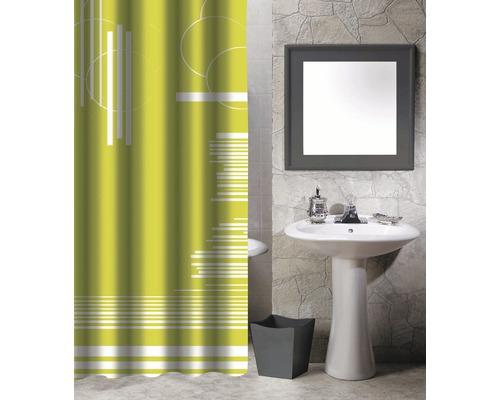 Duschvorhang Grafik grün 180x200 cm