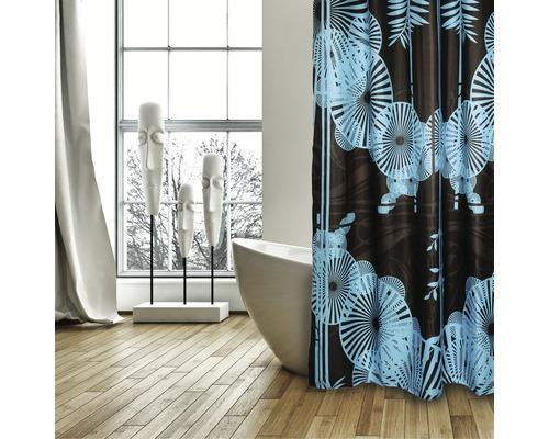 Duschvorhang Sonnenschirme braun-blau 180x200 cm