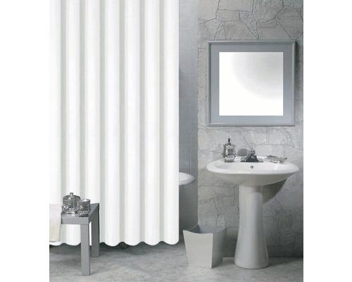 Duschvorhang Peva weiß inkl. 12 Ringe 180x200 cm