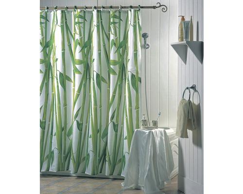 Duschvorhang Bambus 180x200 cm mit Anti-Schimmel-Effekt