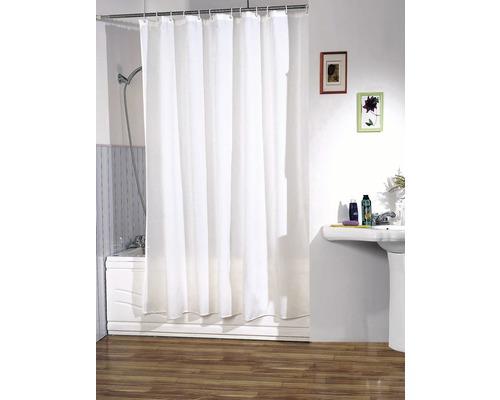 Duschvorhang weiß 180x200 cm