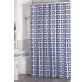 Duschvorhang Quadrate weiß-blau 180x200 cm