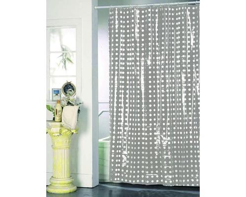 Duschvorhang grau weiß punktiert 180x200 cm