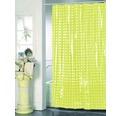 Duschvorhang grün weiß punktiert 180x200 cm