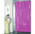 Duschvorhang pink weiß punktiert 180x200 cm