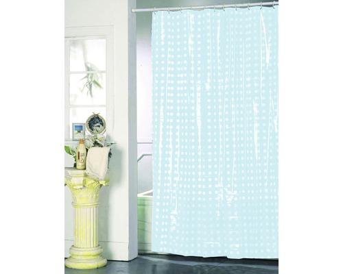 Duschvorhang blau weiß punktiert 180x200 cm