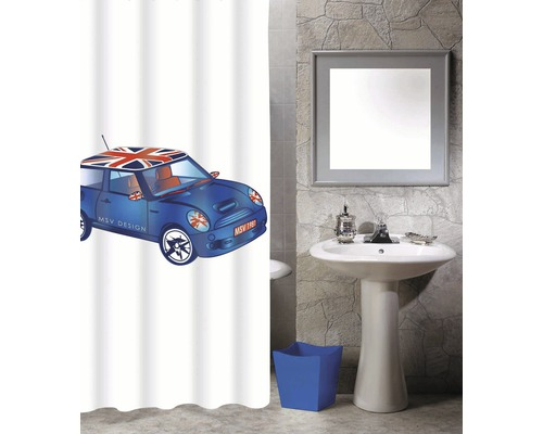 Duschvorhang Mini Blue XS 180x200 cm