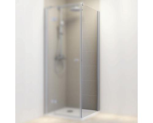Duschseitenwand für Drehtür Schulte MasterClass 900x2000 mm Anschlag rechts Echtglas Klar hell hell chromoptik