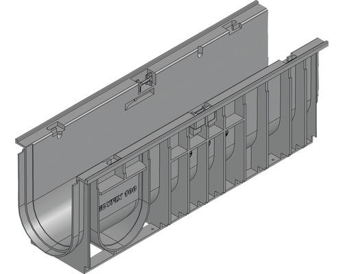 Hauraton Recyfix Standard 100 Entwässerungsrinne Unterteil Typ 01005 aus PP 500 x 150 x 185 mm
