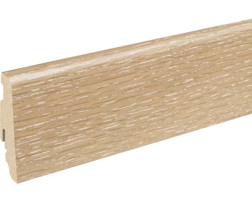 Sockelleiste furniert SU60L Eiche Sandbraun 19x58x2400 mm