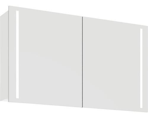 Spiegelschrank Scanbad Lotto 120x70x19 cm 2-türig weiß