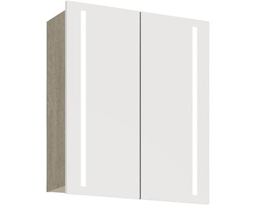 Spiegelschrank Scanbad Lotto 60x70x19 cm 2-türig grau