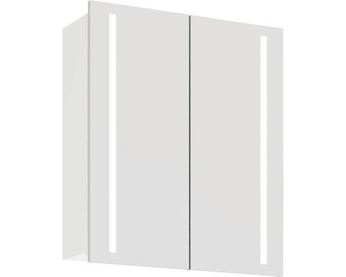 Spiegelschrank Scanbad Lotto 60x70x19 cm 2-türig weiß