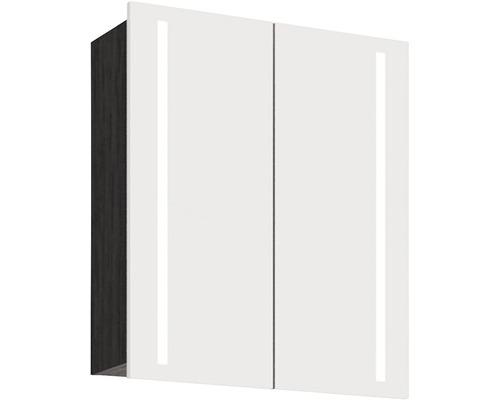 Spiegelschrank Scanbad Lotto 60x70x19 cm 2-türig schwarz