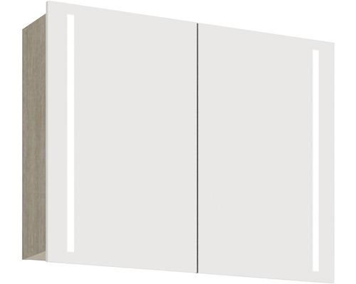 Spiegelschrank Scanbad Lotto 90x70x19 cm 2-türig grau