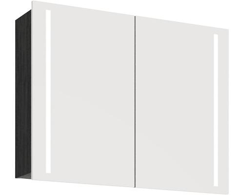 Spiegelschrank Scanbad Lotto 90x70x19 cm 2-türig schwarz