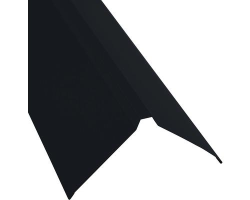 PRECIT Dachfirst gerade für Trapezbleche jet black RAL 9005 1000 x 95 x 95 mm