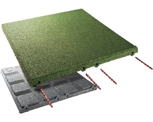 Fallschutzmatte terrasoft 10 m² 50x50x8 cm grün
