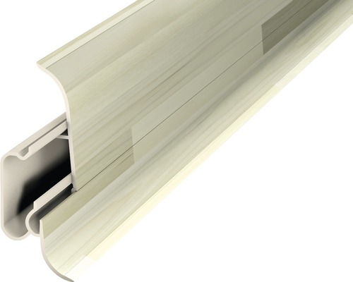 Sockelleiste mit Kabelführung PVC woodstock 22,8x60x2500 mm 2 Teile