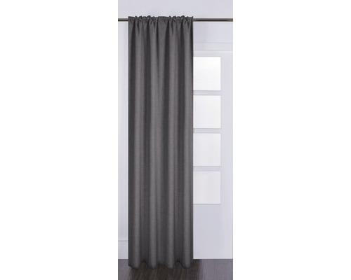 Vorhang mit Universalband Silk off grau 130x280 cm