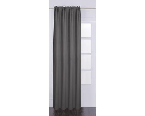 Vorhang mit Universalband Canvas taupe 140x280 cm