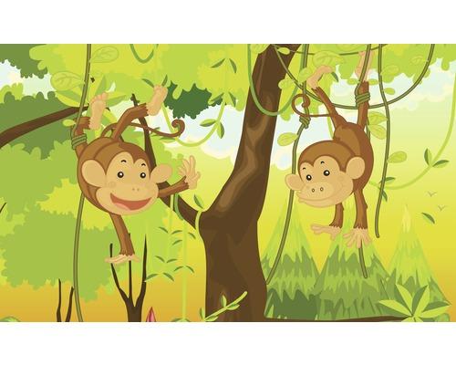 Fototapete Papier Dschungel Affen 368x254 cm