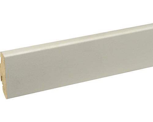 Sockelleiste FU60L Lightgrey RAL 7047 19x58x2400 mm