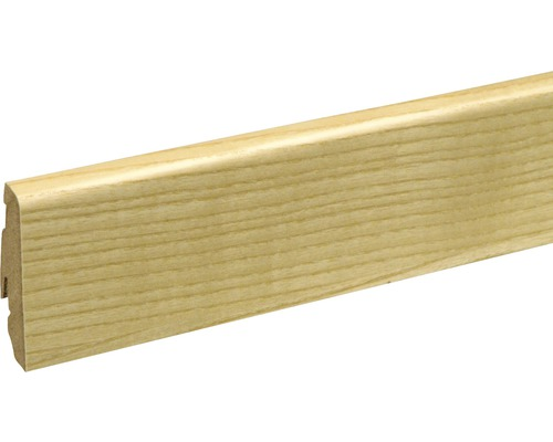 Sockelleiste furniert SU60L Esche lack19x58x2400 mm
