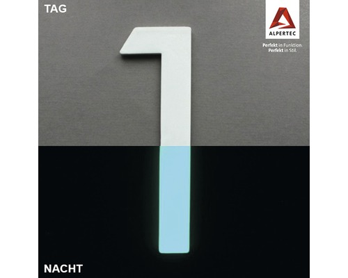 Hausnummer 1 Nightlux glow in the Dark selbstleuchtend