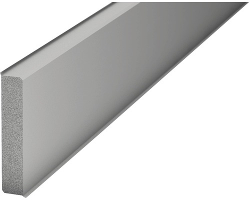 Sockelleiste Hartschaum PVC grau 12x60x2500 mm