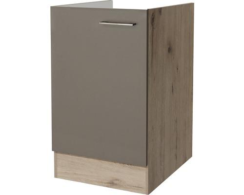 Spülenunterschrank Flex Well Riva San Remo Eiche hell/Quarzit Cubanit 50x82x57 cm