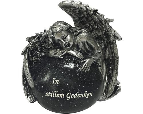 Engel mit Stein ca. 13,5x9x12 cm