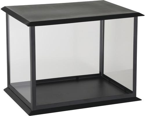 Kerzenhäuschen schwarz 35x25x26 cm