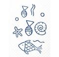 Wanneneinlage Ridder Neptun blau 38x72 cm