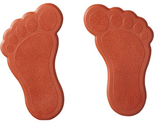 Mini Wanneneinlage Ridder Füße rot 11x13 cm