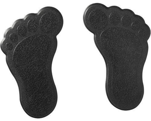 Mini Wanneneinlage Ridder Füße schwarz 11x13 cm