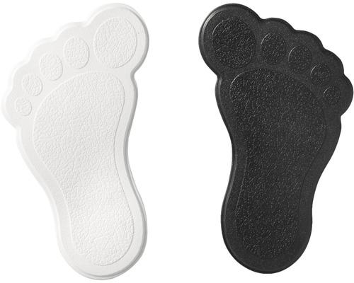 Mini Wanneneinlage Ridder Füße schwarz-weiß 11x13 cm