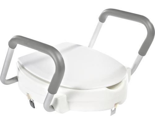 WC-Sitzerhöhung Ridder mit Deckel und Aufstehhilfe weiß