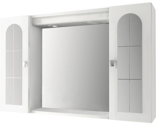 Spiegelschrank Baden Haus Pordeno 94x60x17 cm 2-türig weiß hochglanz