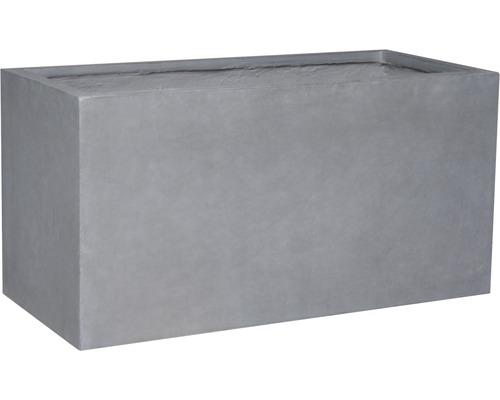 Pflanzkübel Kunststein 74,5x25x35 cm dunkelgrau