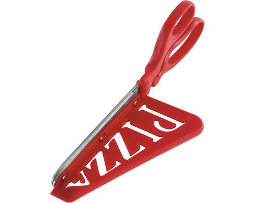 Tenneker® Pizzaschere Küchenschere Kunststoff rot