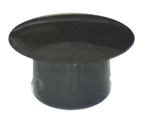 Abdeckstopfen 5 x 8 mm, Schwarz, Kunststoff, 100 Stück