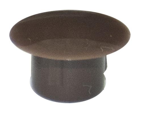 Abdeckstopfen 5 x 8 mm, Dunkelbraun, Kunststoff, 100 Stück