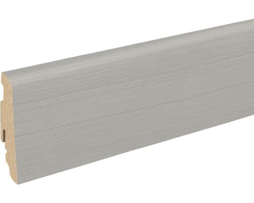 Sockelleiste FU060L Shufflewood grau 19x58x2400 mm